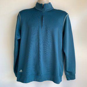 adidas climalite Blue 1/4 Zip Pullover Sweatshirt